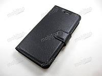 Кожаный чехол книжка ASUS ZenFone Go ZB452KG (черный)