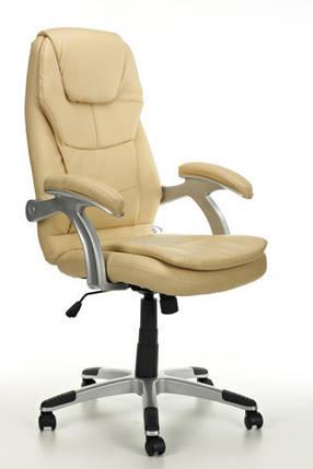 Офисное кресло THORNET бежевое кожаное, фото 2