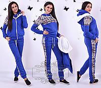 Теплый  зимний спортивный костюм тройка: жилетка, толстовка и штаны
