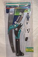 Секатор для обрезки высоких деревьев с ножовкой для работы в саду