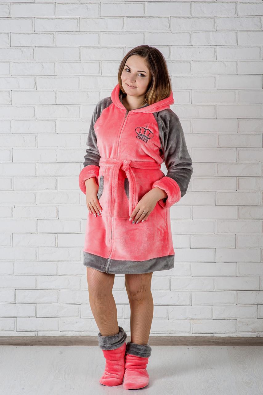 3e3a2428fb931 Женский халат махровый короткий на молнии: продажа, цена в Днепре ...