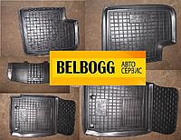 Коврики в салон резиновые черные (клеточка) BYD F3, Бид Ф3, Бід Ф3