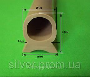 Профиль силиконовый уплотнительный [24х18мм]