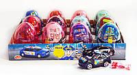 Яйцо пластиковое с полицейской машиной Police и драже