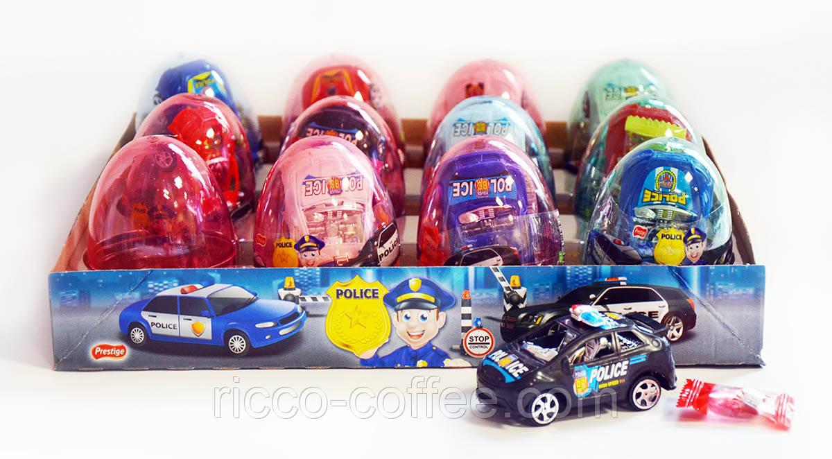 Яйцо пластиковое с полицейской машиной Police и драже - Продажа и аренда кофемашин. Зерновой кофе от компании Saeco-market в Днепре