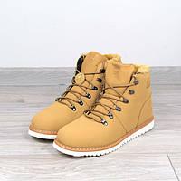 Ботинки мужские зимние Timberland рыжие мех, магазин обуви