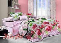 Комплект постельного белья 3D семейный, полиэстер. Постільна білизна. (арт.6358)