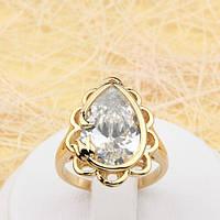 Красивый позолоченный перстень с тюльпаном Ювелирная бижутерия 18k Размер 18.5