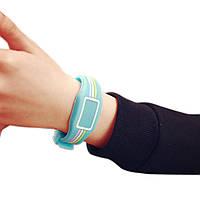 Детские наручные электронные силиконовые цифровые часы Claudia Blue голубые, голубого цвета, фото 1