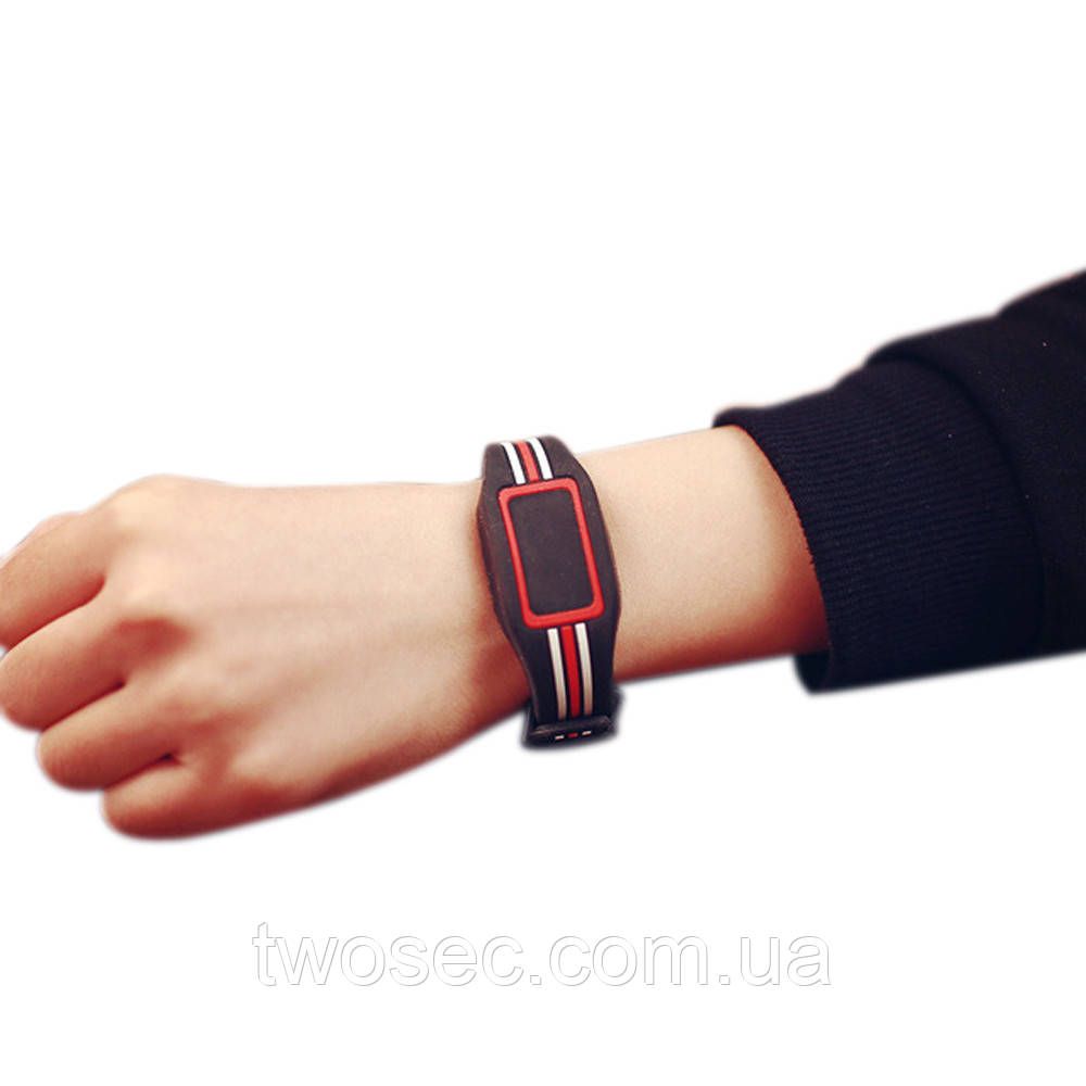 Детские наручные электронные силиконовые цифровые часы Claudia Black черные, черного цвета