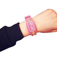 Детские наручные электронные силиконовые цифровые часы Claudia Hot Pink розовые, розового цвета, фото 1