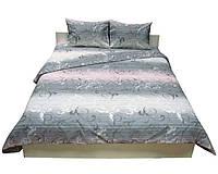 Евро бязевый комплект постельного белья, 4065