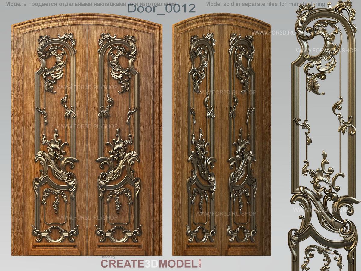 Декор резной для дверей. Д 003