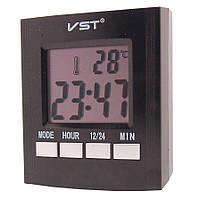 Будильники электронные говорящие, с термометром VST-7027C (от 220в)