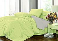 Элитное постельное белье микс Грасс, Евро на резинке, сатин