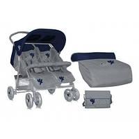 Прогулочная коляска Bertoni Star TWIN (blue&grey)