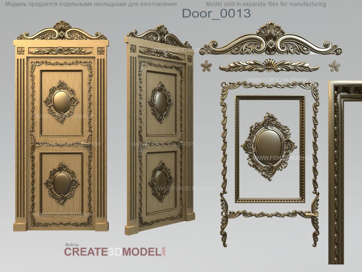 Декор резной для дверей. Д 004