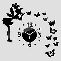 Креативные часы на стену №1 (Черные) 090