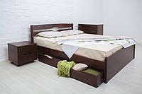 Классическая кровать деревянная Лика Люкс с ящиками