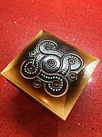 Шкатулка сувенірна дерев'яна ручної роботи інхрустована бісером, фото 1