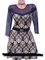 Нарядное женское платье с вставками из сеточки ― стильная новинка из весенней коллекции 2016 года. Вы можете к