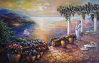 «Романтический вечер» картина маслом