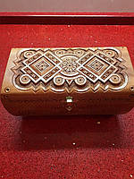 Шкатулка сувенірна дерев'яна ручної роботи з замочком, фото 1