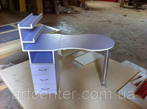 Стол для маникюра с полочками