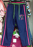 Балоневые штаны на флисе для девочек 6-7лет