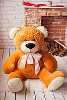 Мягкий медведь рыжий ручной работы