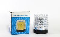 Колонка для телефона SPS V-LIGHT-S83: 40 Гц-15 кГц, 237 г, USB/micro SD/TF, свет, FM радио