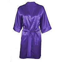 90 халат сатиновий DK M, фиолетовый
