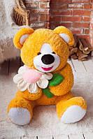 Подарок для девушки Мишка плюшевый с ромашкой