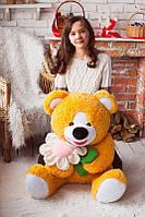 Игрушка для ребенка Медведь плюшевый с ромашкой