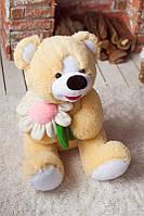 Плюшевая игрушка для девушки Миша с ромашкой