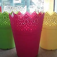 Кашпо пластиковые для цветов № 094