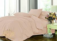 Элитное постельное белье Пудра, Евро на резинке, сатин