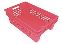 Ящик Красный оборотный перфорированный сплошное дно