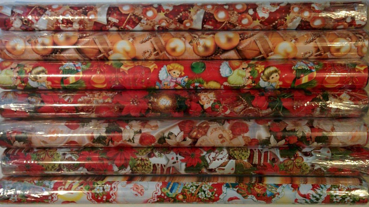 """Бумага упаковочная """"Новый Год"""", набор 25 листов, (ДхШ) 100см.х70см."""