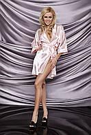 90 халат сатиновий DK XL, розовый