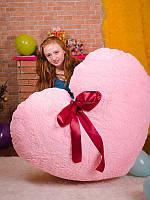 Подарок для любимых подушка Розовое Сердце