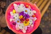 Букет из плюшевых игрушек для подарка ребенку