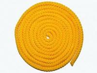 Скакалка для худож.гимнастики, цветная ткань, желтая, 3м