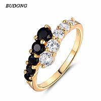 Белый & Черный  кольцо Ювелирная бижутерия 18k Размер 16