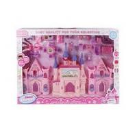 Замок 666-570-1 (24шт) принцессы,26-17-9см,,муз,свет,мебель,на бат-ке(табл),в кор-ке,51,5-37,5-6см