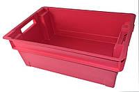 Ящик Красный оборотный сплошной 600х400х200