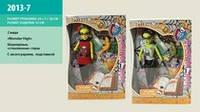 """Кукла """"MH"""" 2013-7 (48шт/2) 2вида,учительница,стекл/глаза,с питомцем,подставк,кор.35*24*7см"""