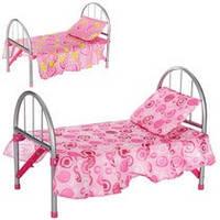 Кроватка 9342 / WS 2772 (12шт) для куклы,жел,45-32-25см,подушка,в кульке,74-26-4см
