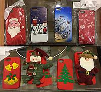 Новогодний Рождественский Силиконовый чехол для iPhone 5/5s/SE