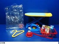 Гладильный набор 8020 (36шт/2) доска, утюг, вешалка, корзина, в пакете 35 см